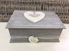 Shabby RUSTIC Chic Distressed LARGE Box Sister On Wedding Day personalised Gift - 253167223620